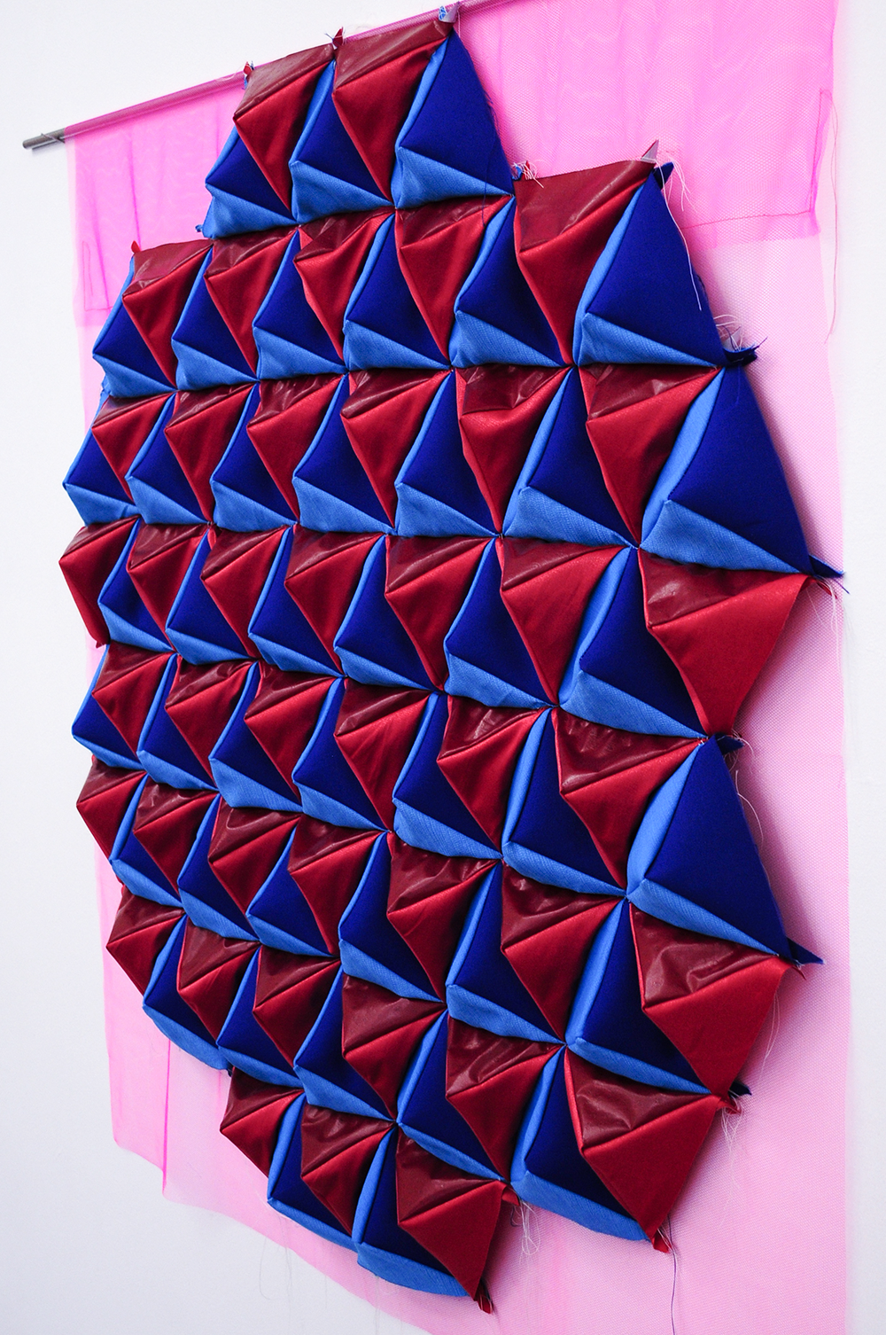 THE MENDING OF A MILLION SCATTERED PIECES TRIANGLES 2015 Patchwork PVC Fabric Polyester Tulle 140 X Cm